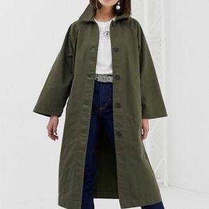 NWT Monki Oversized Lightweight coat in Khaki